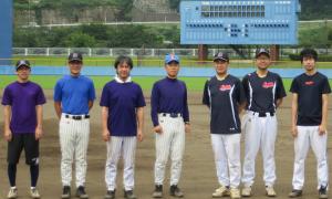 愛川町にある球場で合宿2日目の練習をしました。