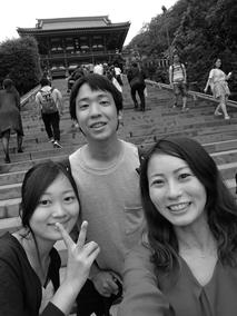 鶴岡八幡宮前で必死に撮った一枚(自撮りは苦手です笑)